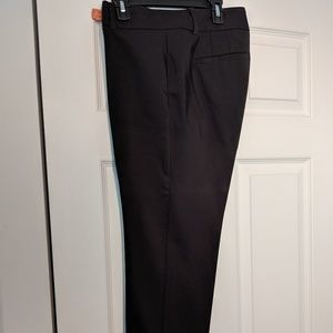 Ladies black and blue ankle pants